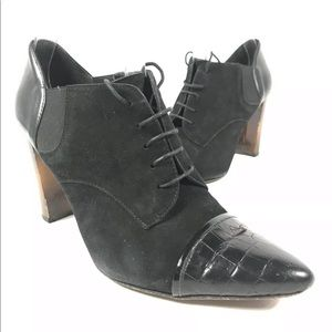 DONALD PLINER Oxfords Ankle Bootie Lace-Up Leather